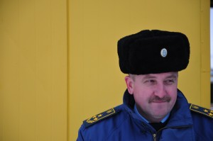 Ukrainischer Zöllner am Grenzübergang Kuchurgan